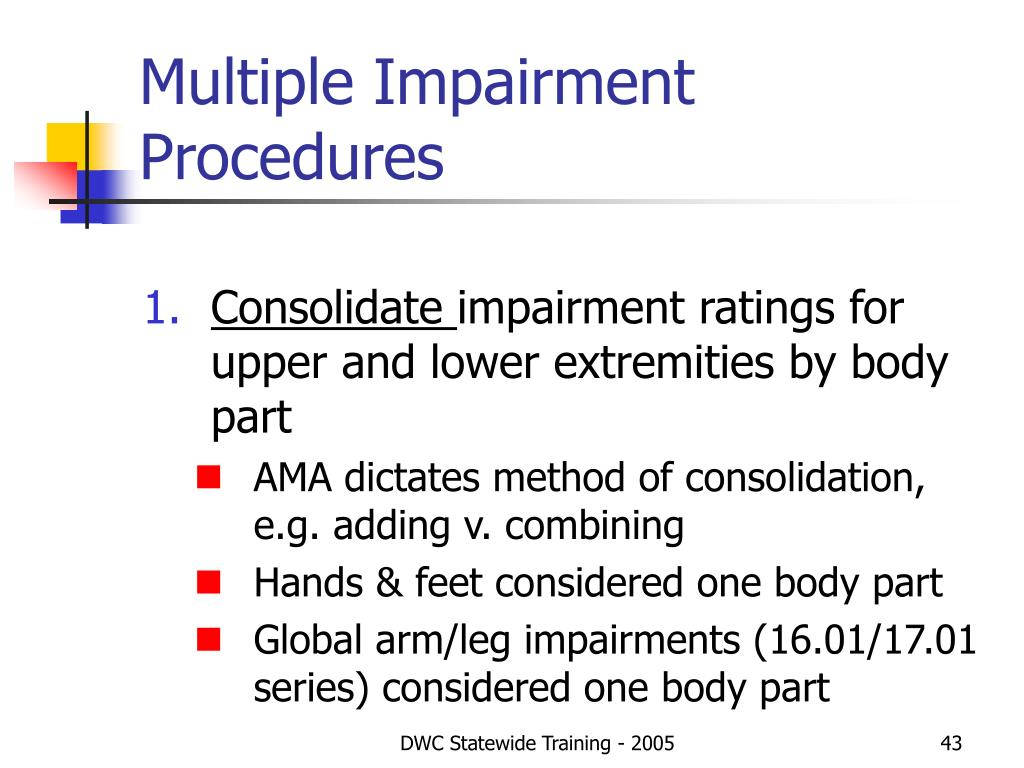 Multiple Impairment Procedures