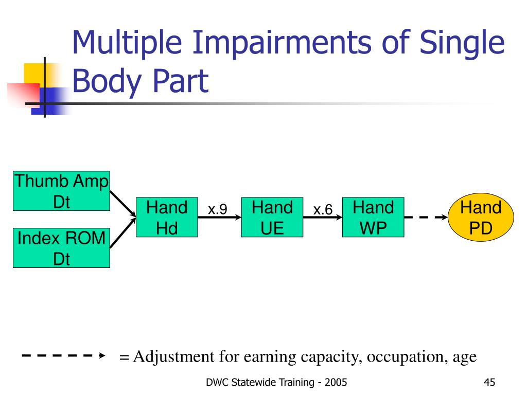 Multiple Impairments of Single Body Part