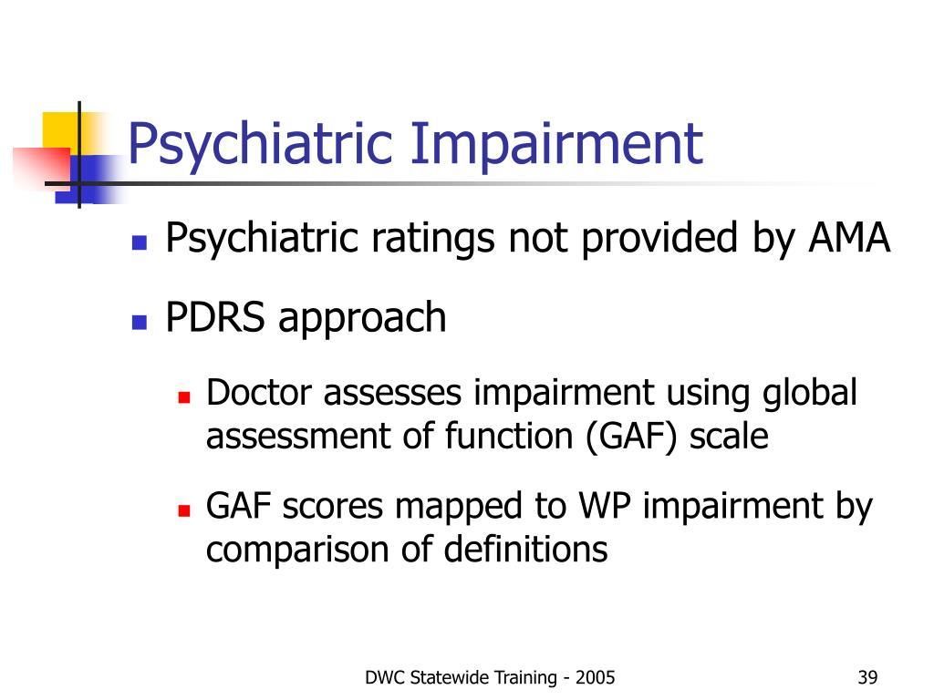 Psychiatric Impairment