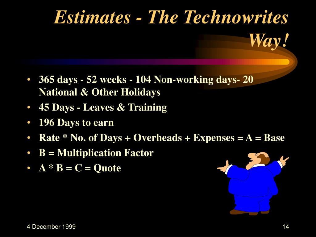 Estimates - The Technowrites Way!