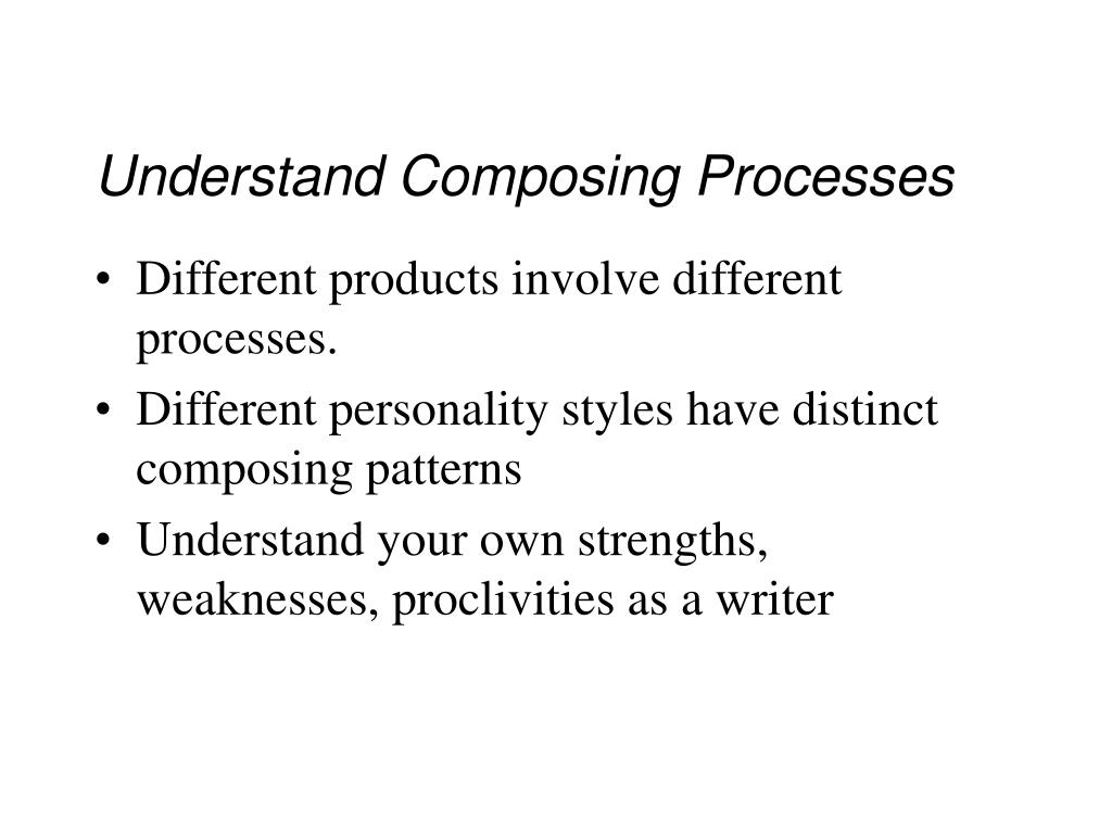 Understand Composing Processes