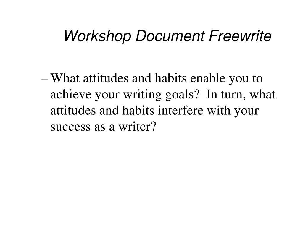 Workshop Document Freewrite