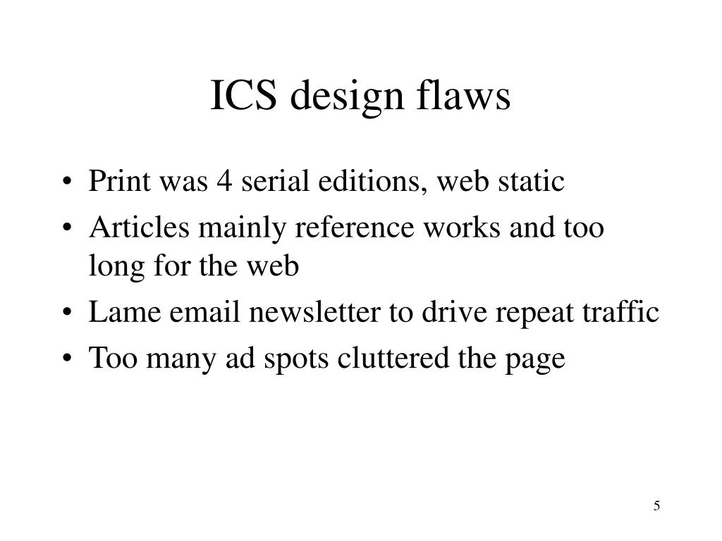 ICS design flaws