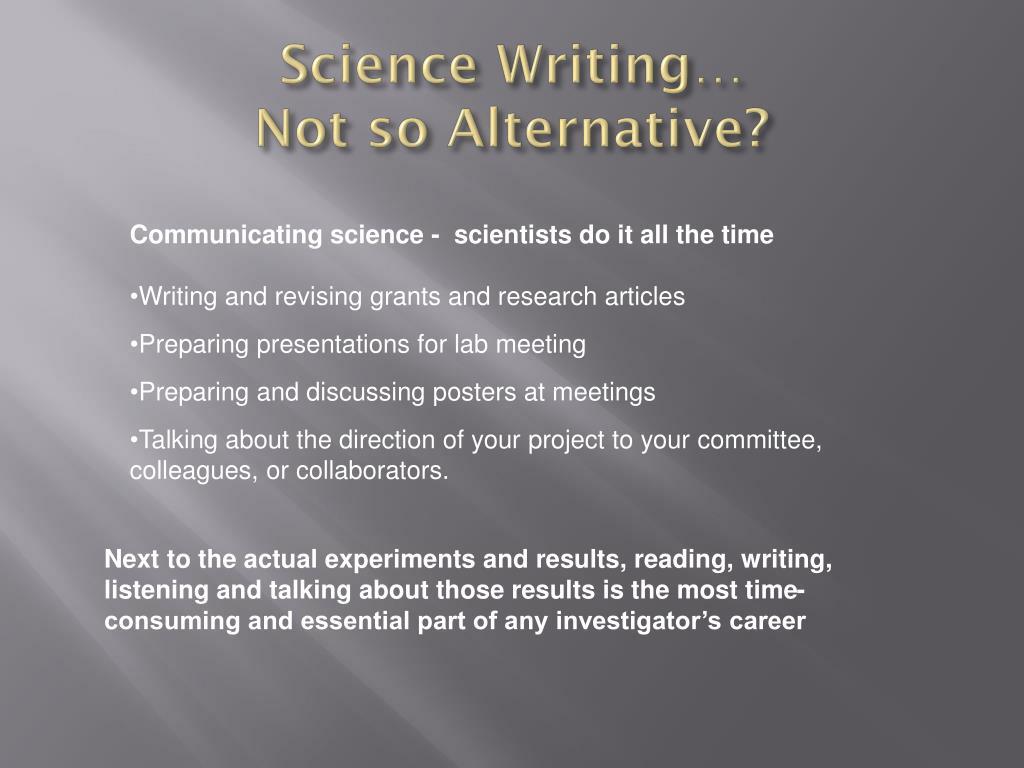 Science Writing…
