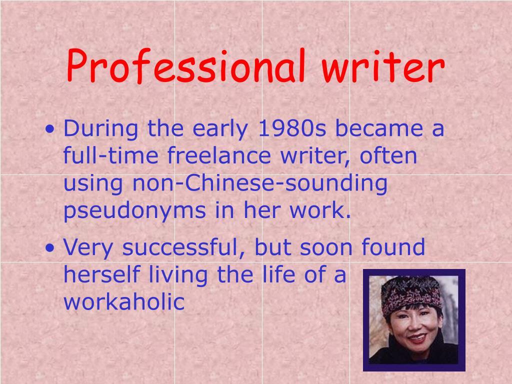 Professional writer