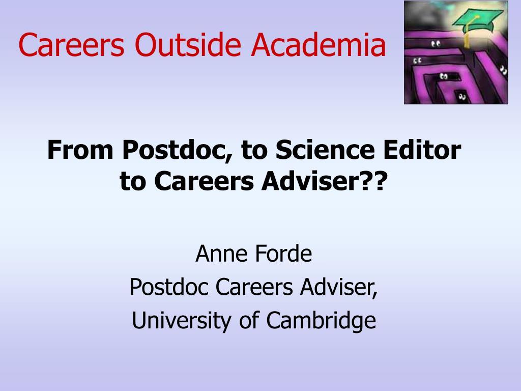Careers Outside Academia