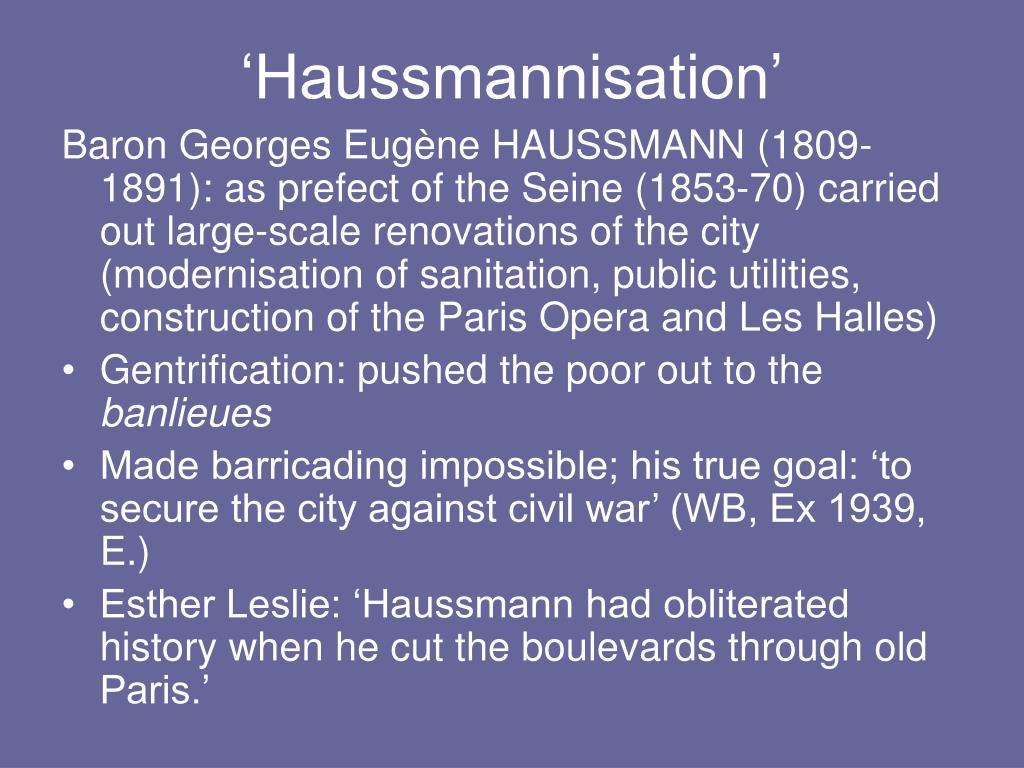 'Haussmannisation'