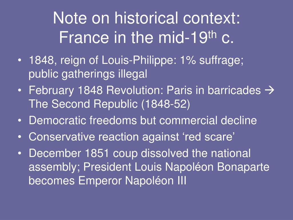 Note on historical context: