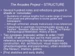 the arcades project structure
