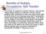 benefits of multiple occupations skill transfer35