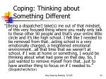 coping thinking about something different23