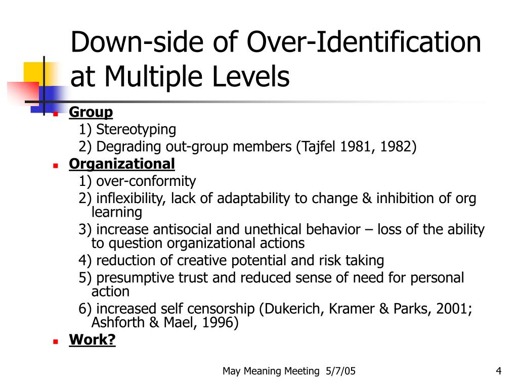 Down-side of Over-Identification at Multiple Levels