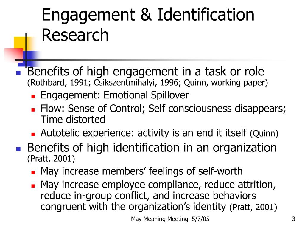 Engagement & Identification Research
