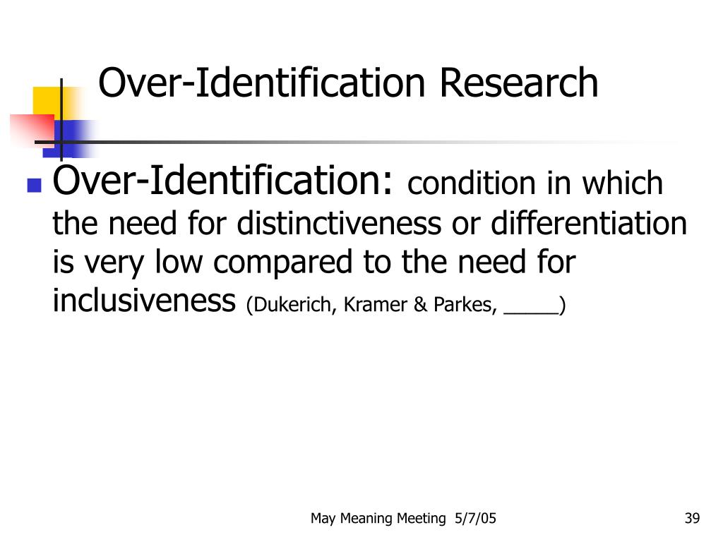 Over-Identification Research