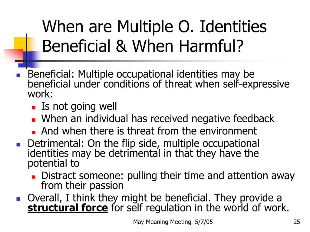 When are Multiple O. Identities Beneficial & When Harmful?
