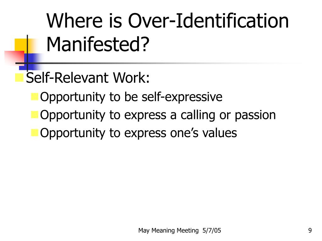 Where is Over-Identification Manifested?