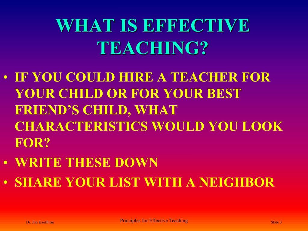 What Is Effective Teaching L on University Of South Carolina Aiken Transcript