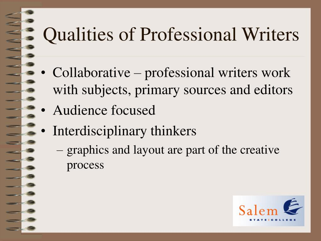 Qualities of Professional Writers