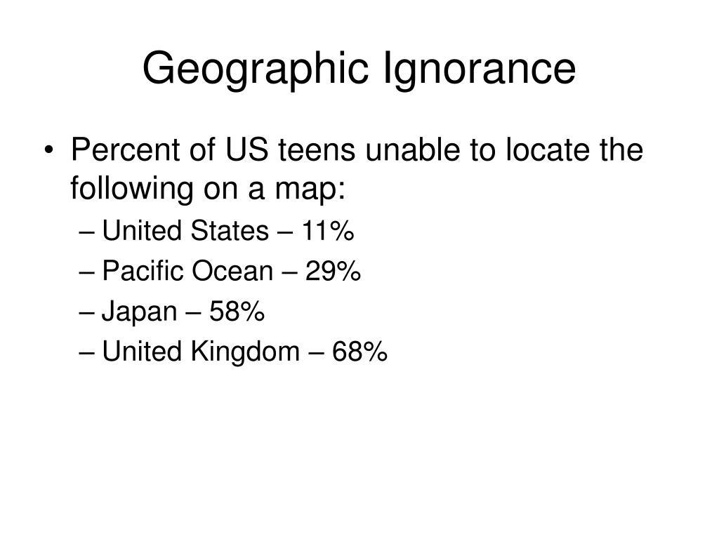 Geographic Ignorance