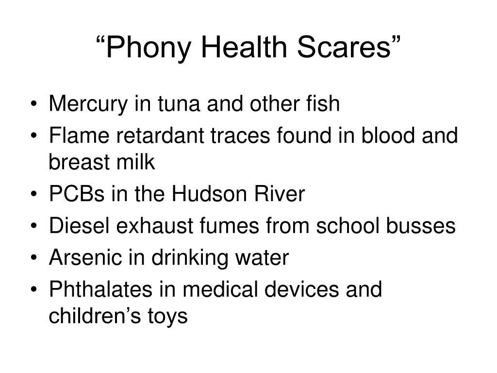 """Phony Health Scares"""