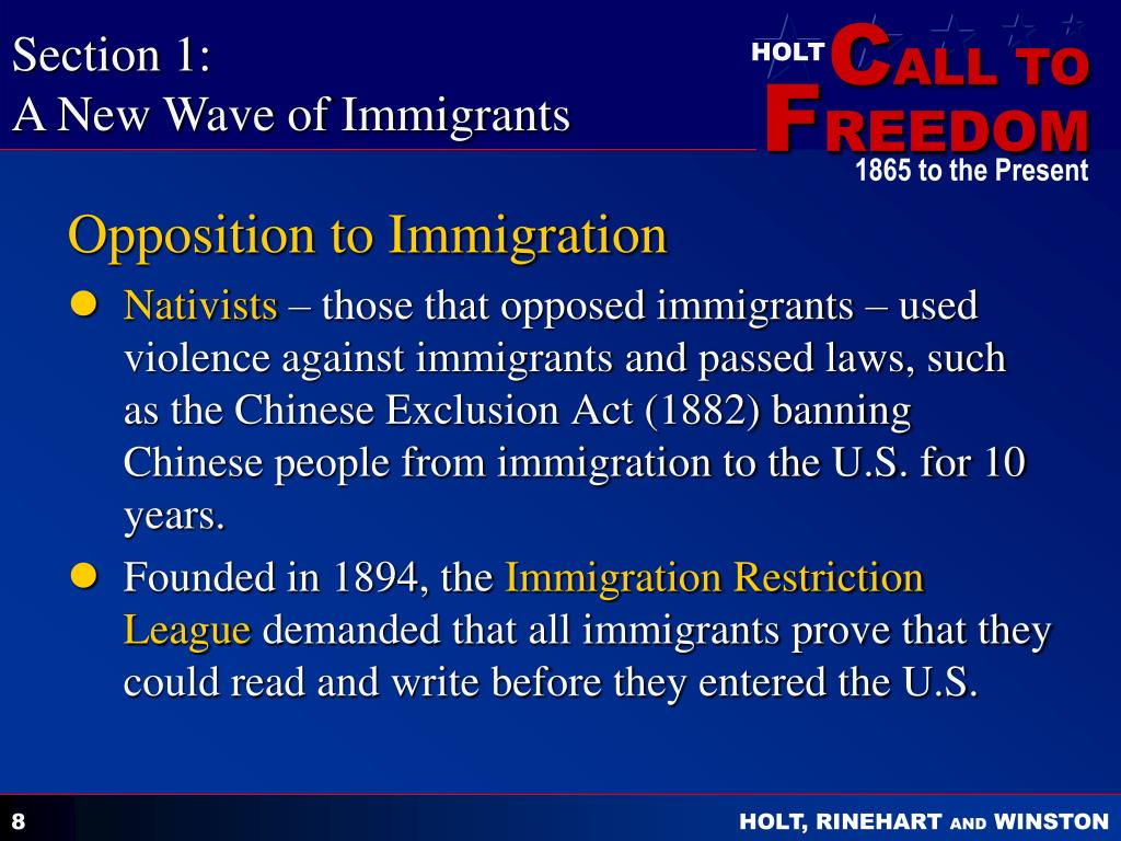immigration restrictions Immigration restriction no 17 of 1901 5—(1) any immigrant who evades an officer or who enters the commonwealth at any place where no officer is stationed may if at any time thereafter.