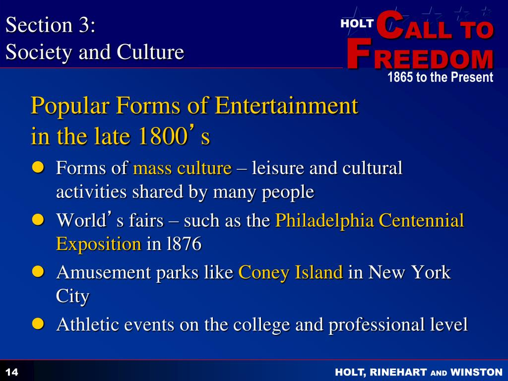 What was the popular entertainment in the 1930s?