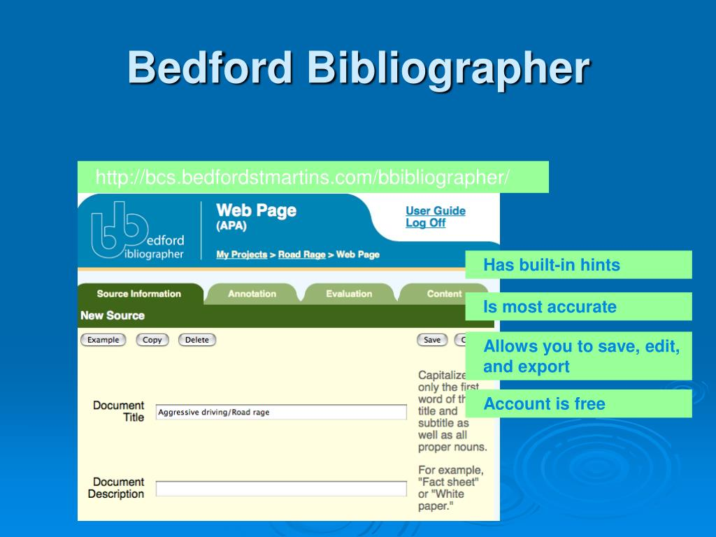 Bedford Bibliographer