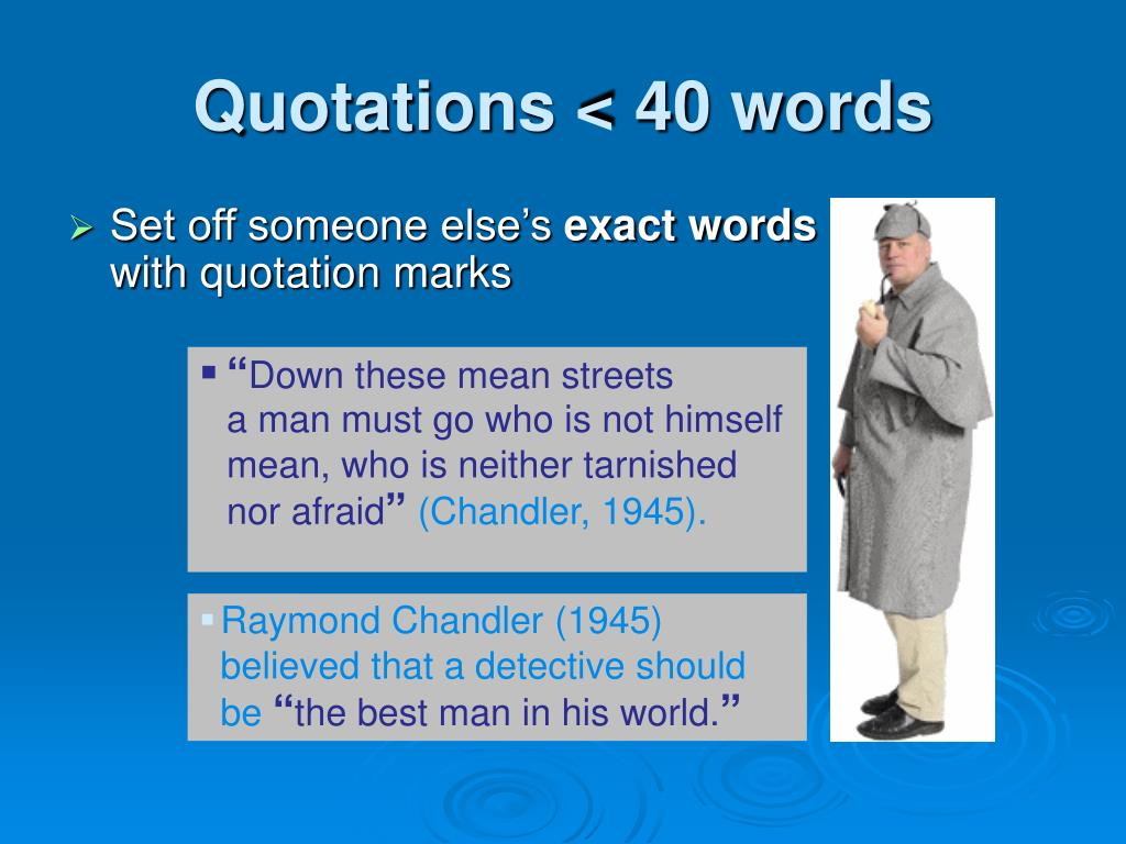 Quotations < 40 words