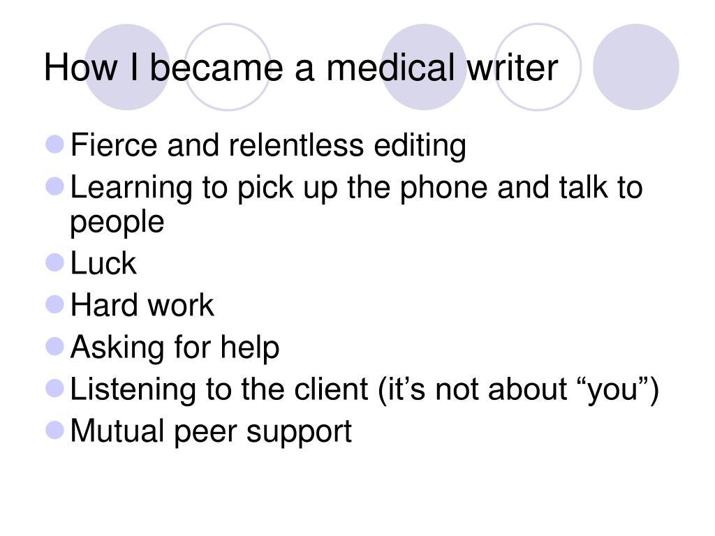 How I became a medical writer