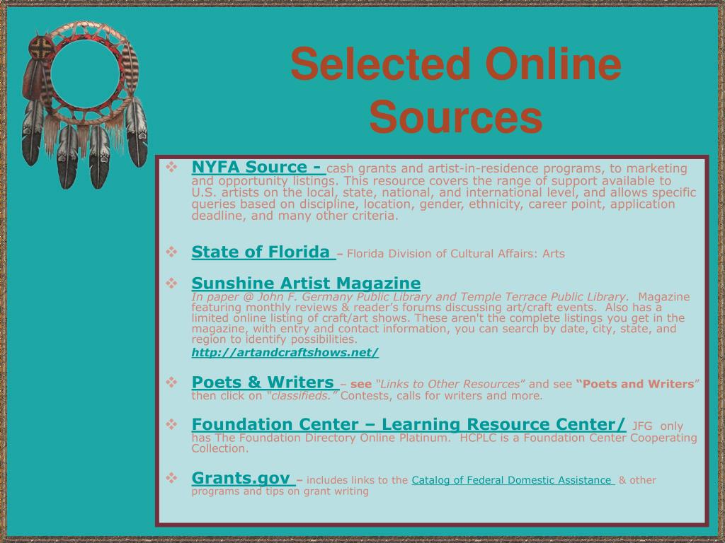 Selected Online Sources