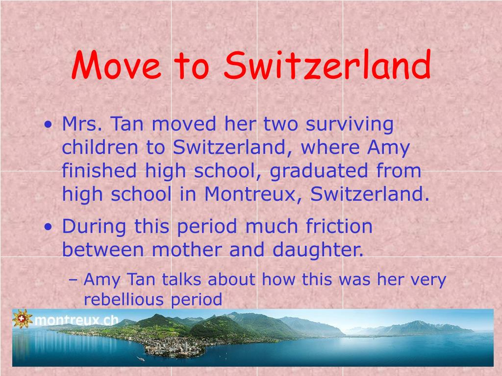 Move to Switzerland