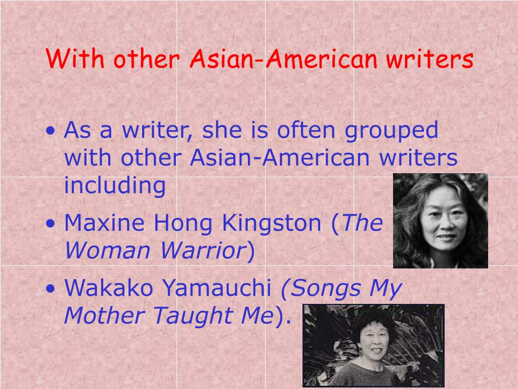 With other Asian-American writers