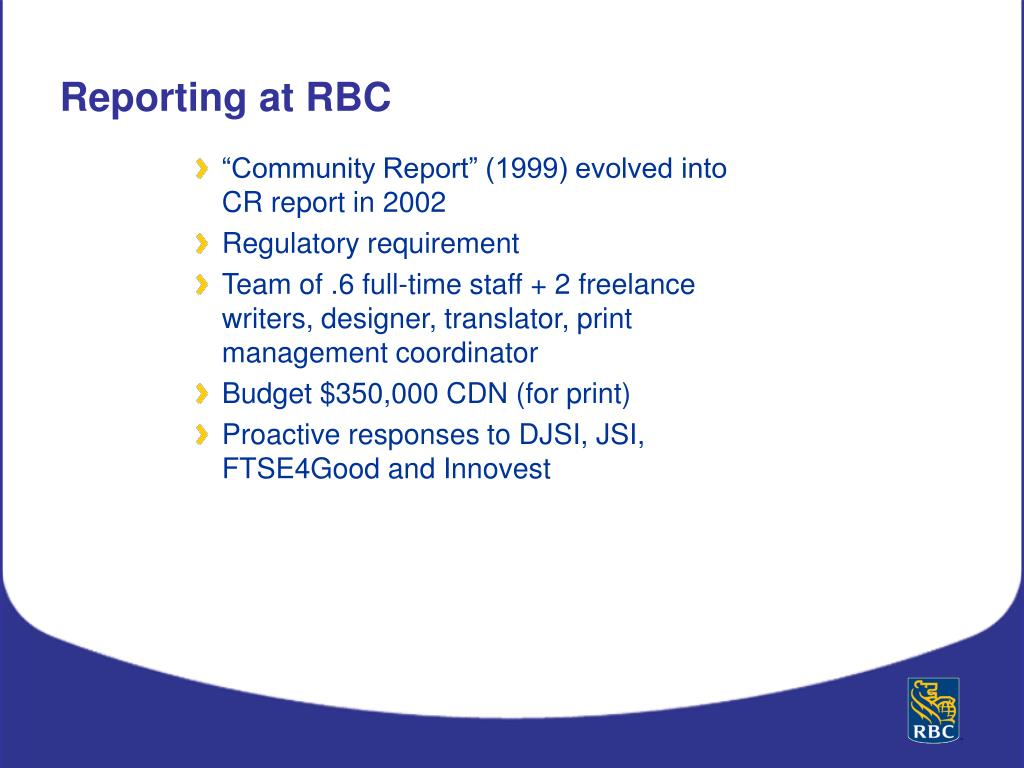 """Community Report"" (1999) evolved into CR report in 2002"
