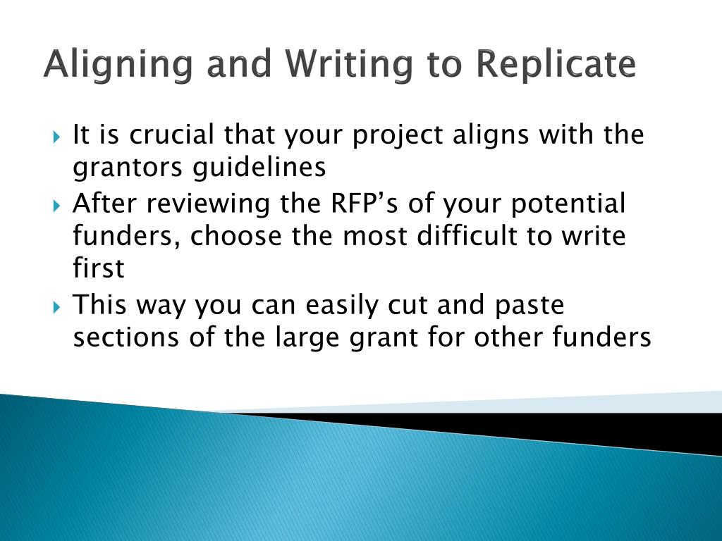 Aligning and Writing to Replicate
