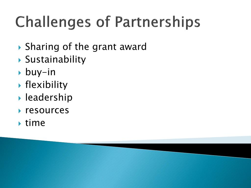 Challenges of Partnerships