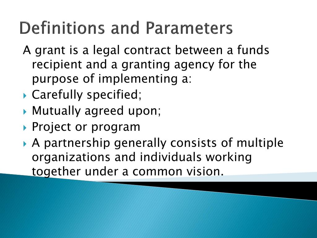 Definitions and Parameters