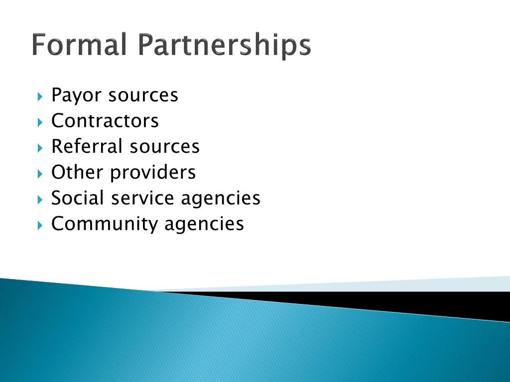 Formal Partnerships