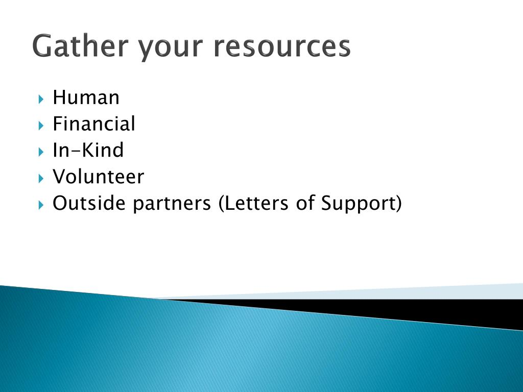 Gather your resources