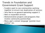 trends in foundation and government grant support