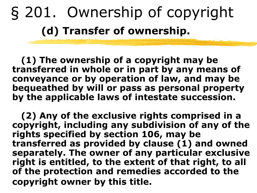 § 201.  Ownership of copyright