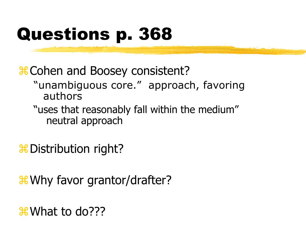 Questions p. 368