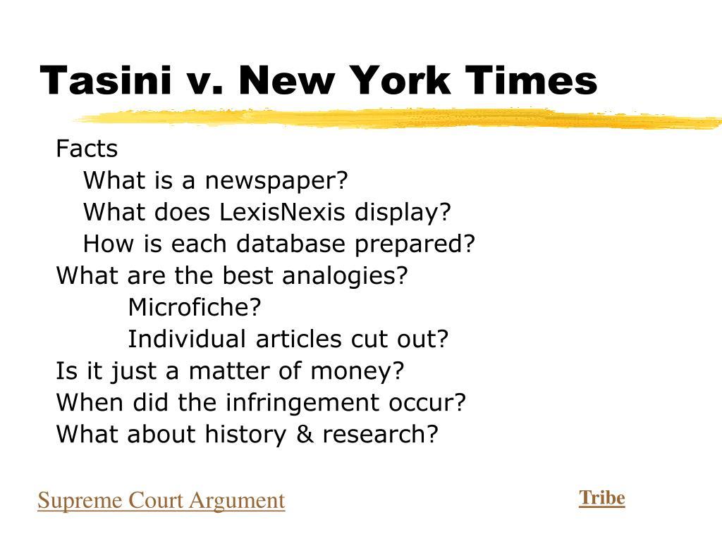 Tasini v. New York Times