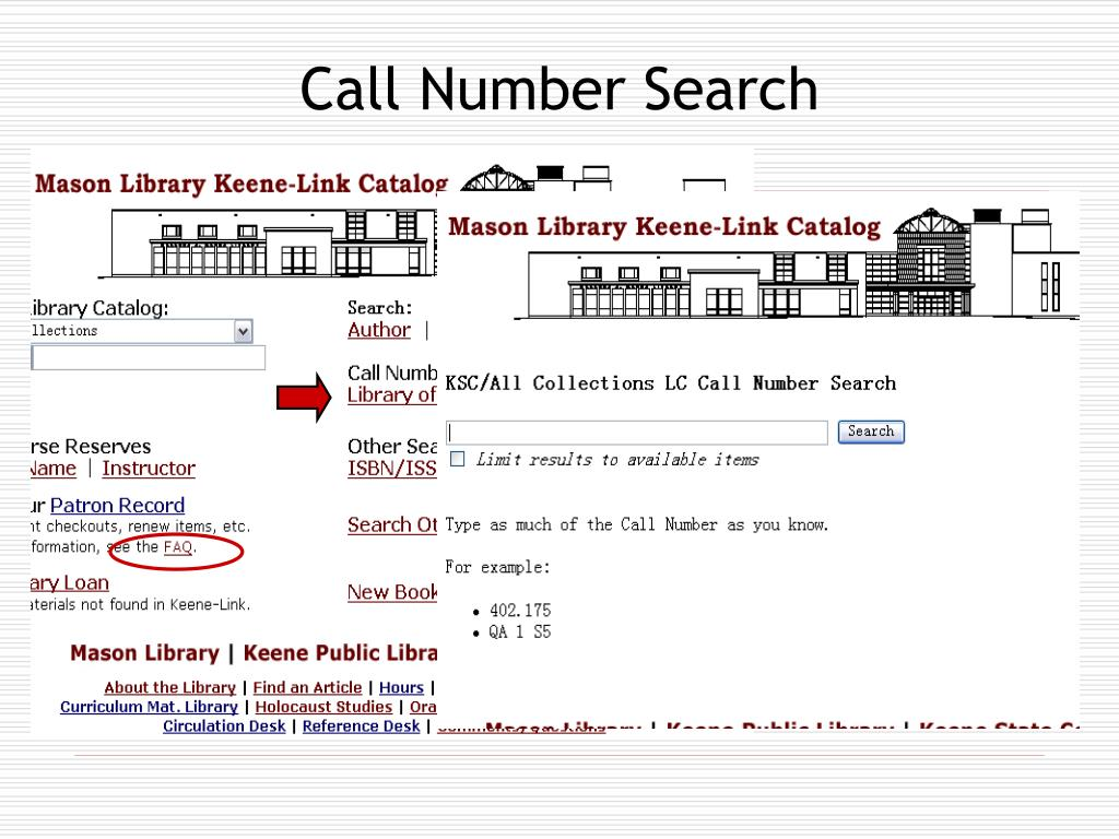 Call Number Search