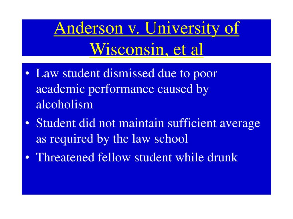 Anderson v. University of Wisconsin, et al