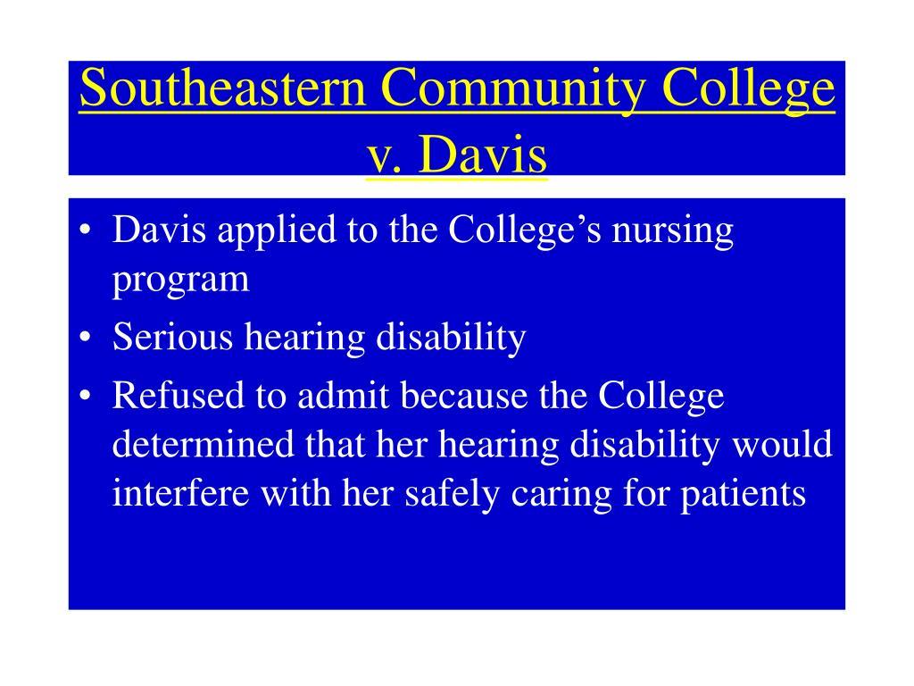 Southeastern Community College v. Davis