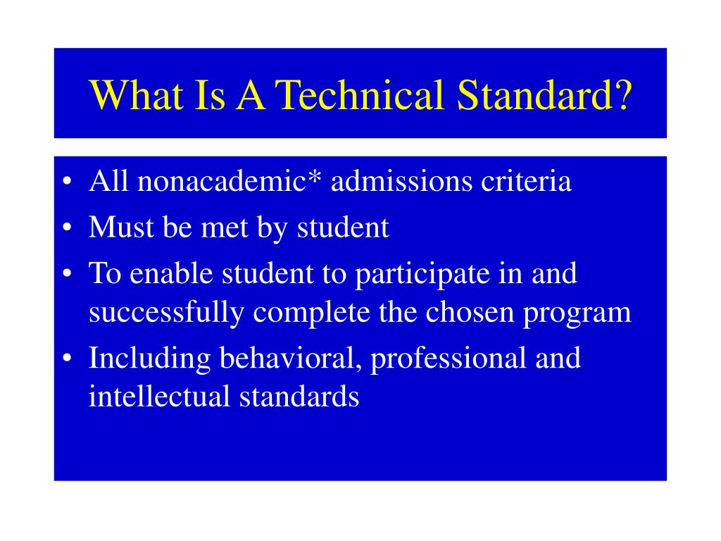 What Is A Technical Standard?