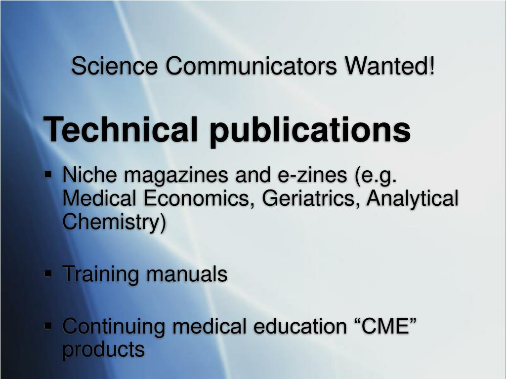 Science Communicators Wanted!