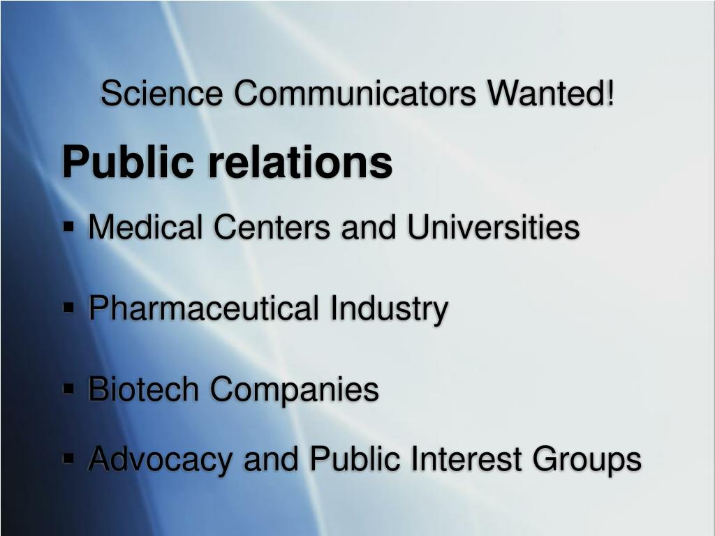 Science Communicators Wanted!