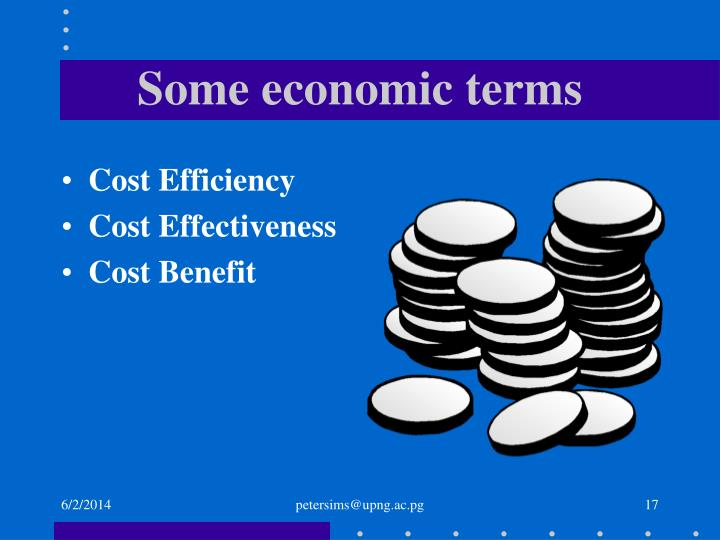 Some economic terms
