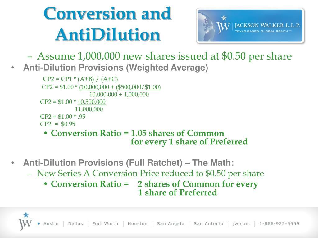 Conversion and AntiDilution